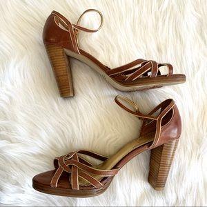 Seychelles Anthro Leather Chunky Heels